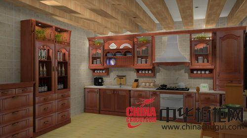 惠邦家具-整体橱柜-红樱桃实木