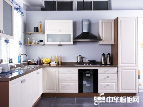 博大爱家橱柜-不锈钢整体厨房-白色欧式